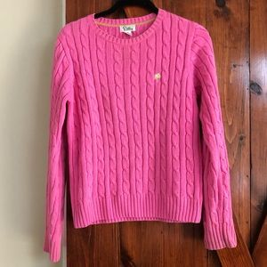 Lilly Pulitzer Pink Cable Knit Sweater